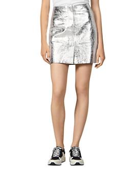 Sandro - Astar Metallic Leather Mini Skirt
