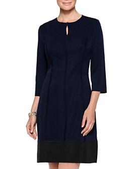 Misook - Seamed Knit Keyhole Dress