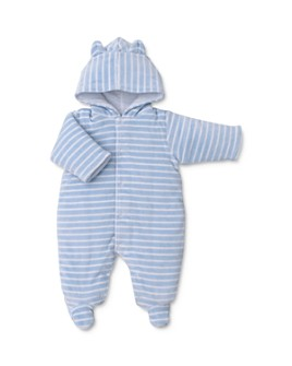 Kissy Kissy - Boys' Striped & Hooded Velour Footie - Baby