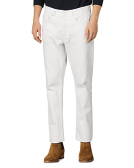 Sandro - Straight Slim Fit Jeans in White