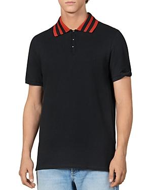 Sandro Campus Short-Sleeve Slim Fit Polo Shirt-Men
