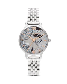 Olivia Burton - Abstract Florals Link Bracelet Watch, 30mm