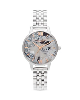 Olivia Burton - Abstract Florals Link Bracelet Watch, 30mm
