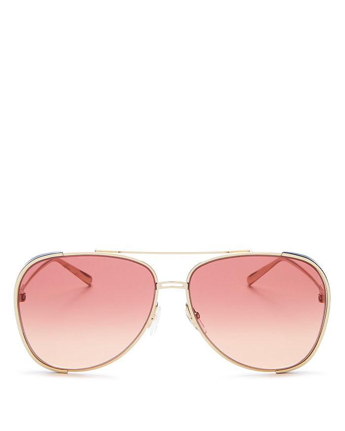 Salvatore Ferragamo - Women's Brow Bar Aviator Sunglasses, 62mm