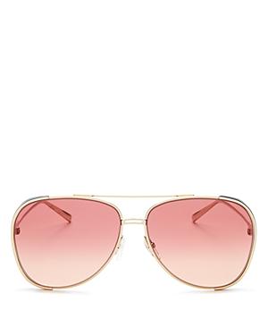 Salvatore Ferragamo Women's Brow Bar Aviator Sunglasses, 62mm