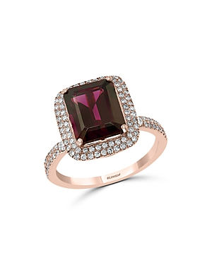 Bloomingdale's Rhodolite & Diamond Ring in 14K Rose Gold - 100% Exclusive