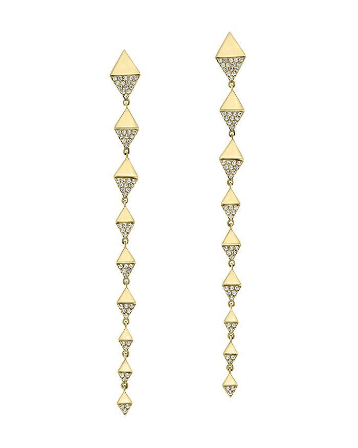 Bloomingdale's - Pavé Diamond Linear Drop Earrings in 14K Yellow Gold, 0.35 ct. t.w. - 100% Exclusive