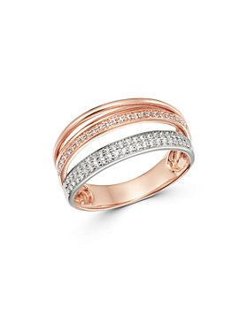 Bloomingdale's - Diamond Multi-Row Ring in 14K Rose & White Gold, 0.33 ct. t.w. - 100% Exclusive