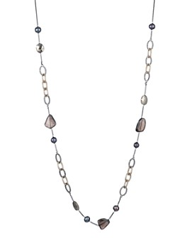 """Alexis Bittar - Woodland Fantasy Chain Link Stone Station Necklace, 32"""""""