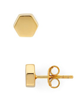 Argento Vivo - Geo Stud Earrings in 18K Gold-Plated Sterling Silver