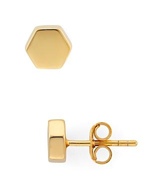 Argento Vivo Geo Stud Earrings in 18K Gold-Plated Sterling Silver