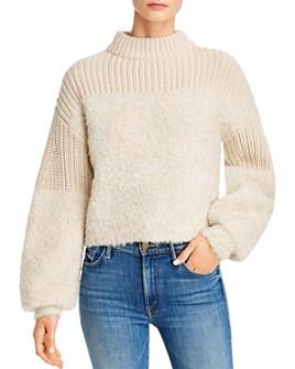 Rebecca Minkoff - Chase Mixed-Knit Sweater