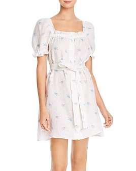 Sleeper - Brigitte Linen Mini Dress