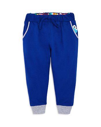 Isaac Mizrahi Loves Sesame Street - Unisex Cookie Monster Jogger Pants, Baby, Little Kid - 100% Exclusive