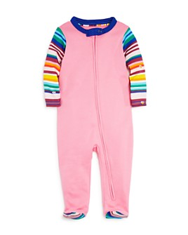 Isaac Mizrahi Loves Sesame Street - Girls' Stripe-Sleeve Footie, Baby - 100% Exclusive