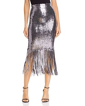 Rebecca Vallance - Matisse Sequin Fringe Midi Skirt