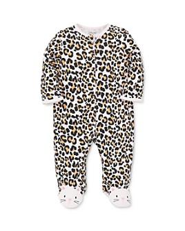Little Me - Girls' Leopard Print Footie - Baby