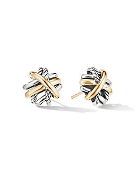 David Yurman - Crossover® Stud Earrings with 18K Yellow Gold