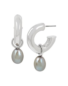 ALLSAINTS - Cultured Freshwater Pearl & Tube Hoop Earrings