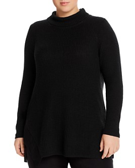 NIC and ZOE Plus - Side-Tie Turtleneck Tunic Sweater