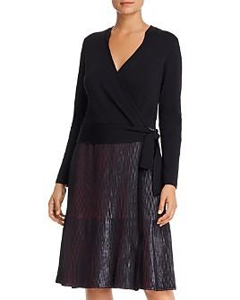 NIC and ZOE - Faux-Wrap Combo Dress