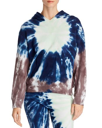 Monrow - Sunburst Tie-Dye Hooded Sweatshirt