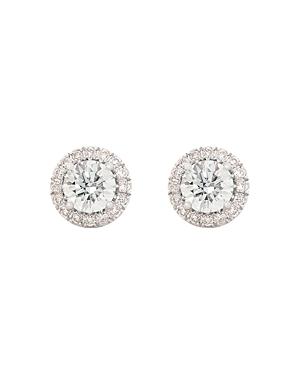 Halo Lab-Grown Diamond Stud Earrings