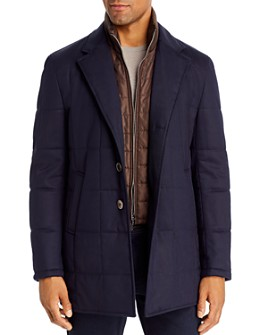 Zanella - Quilted Car Coat with Bib
