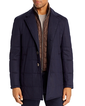 Zanella Quilted Car Coat with Bib