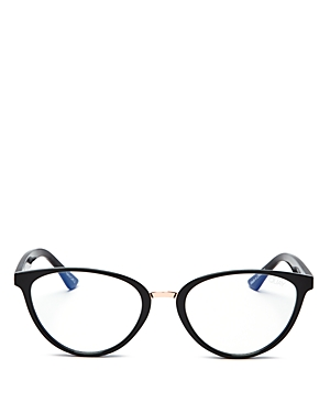 Quay Women's Quay x Chrissy Tiegen Rumours Cat Eye Blue Light Glasses, 54.5mm