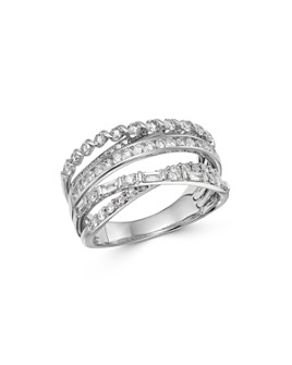Bloomingdale's - Diamond Crossover Band in 14K White Gold, 1.0 ct. t.w. - 100% Exclusive