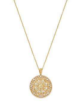 Bloomingdale's - Diamond Medallion Pendant Necklace in 14K Yellow Gold, 1.50 ct. t.w. - 100% Exclusive