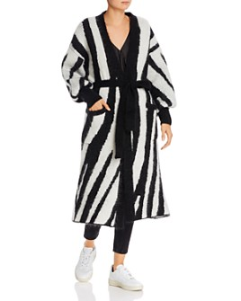 Anine Bing - Oliver Zebra-Striped Long Cardigan
