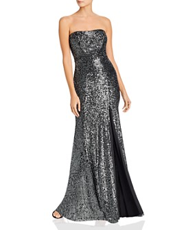 Avery G - Strapless Sequin Gown