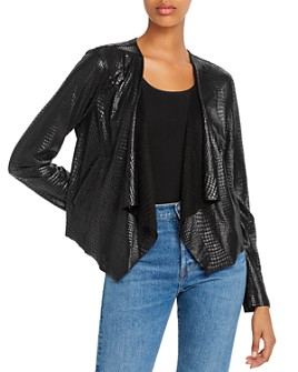 BLANKNYC - Croc-Pattern Draped Jacket