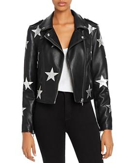 BLANKNYC - Star Faux Leather Moto Jacket