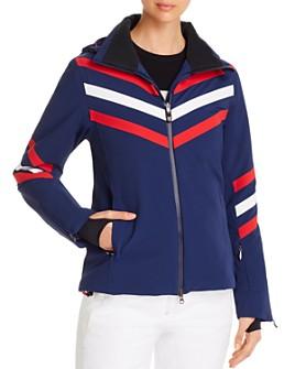 Perfect Moment - Chevron Striped Ski Jacket