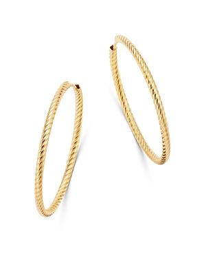 Bloomingdale's Twisted Hoop Earrings in 14K Yellow Gold - 100% Exclusive