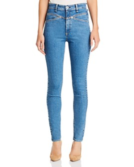 rag & bone - Jane Super High-Rise Yoke Skinny Jeans in Montana