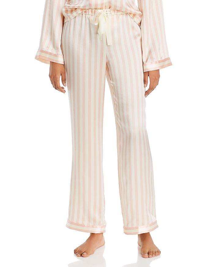 Morgan Lane - Chantal Striped-Silk Pajama Pants
