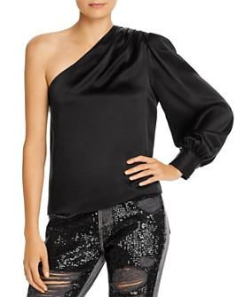 FRAME - One-Shoulder Silk Top