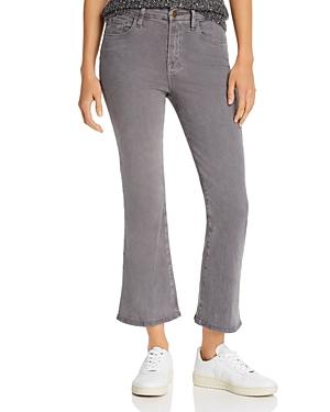 Frame Le Crop Mini Boot Sateen Jeans in Smoke-Women