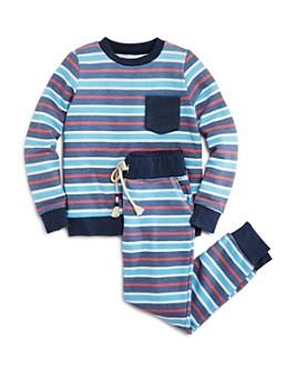 SOL ANGELES - Unisex Striped Sweatshirt & Jogger Pants - Little Kid, Big Kid