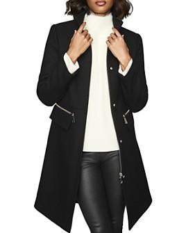 REISS - Macey Funnel-Neck Long Coat