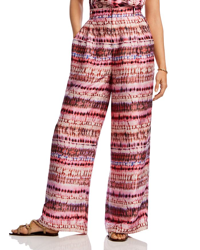 Lini Brett Tie-dye Wide-leg Pants - 100% Exclusive In Fuchsia