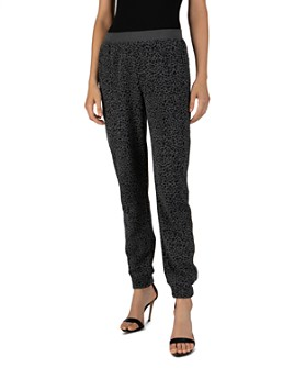 ATM Anthony Thomas Melillo - French Terry Mini Leopard Print Jogger Pants