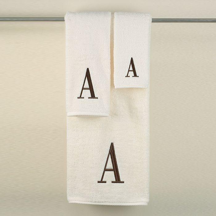 "Avanti - ""Monogram Letter"" Hand Towel"