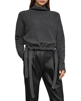BCBGMAXAZRIA - Side-Tie Turtleneck Sweater