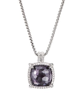 David Yurman - Sterling Silver Châtelaine®  Pendant Necklace with Gemstones & Diamonds