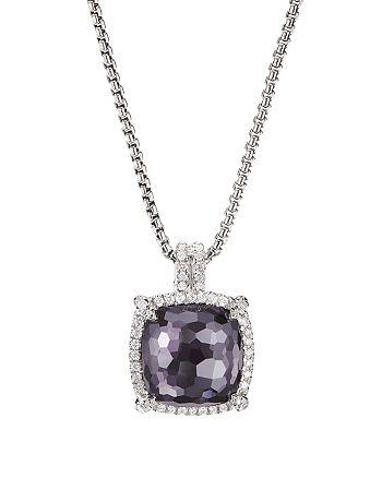 David Yurman - Sterling Silver Châtelaine®  Pendant Necklace with Gemstones & Diamonds